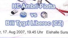 Ambri – Bili Tygri Liberec (CZ) 3-3